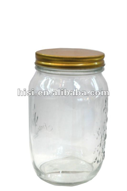 wholesale glass jar and bottle for jams and honey with metal lid ...
