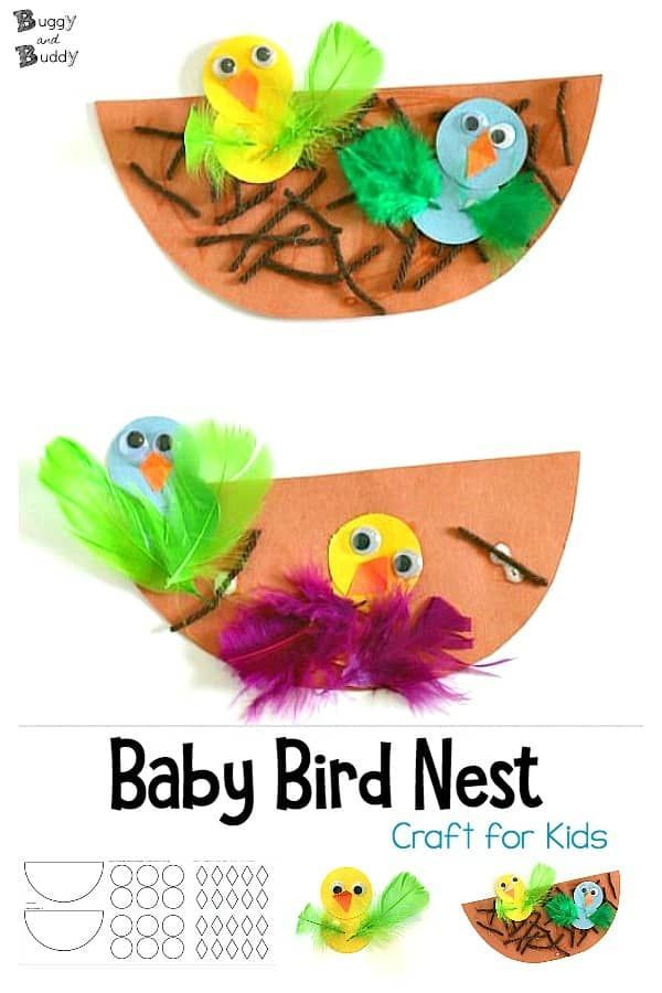 Photo of Spring Crafts for Kids: Nest and Baby Bird Craft – Buggy and Buddy