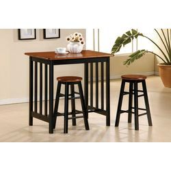 Wildon Home ® 3 Piece Bar Table Set in Black and Cherry | Wayfair