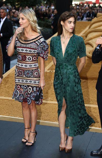 Annabelle Wallis in Alexander McQueen and Sofia Boutella in Saloni