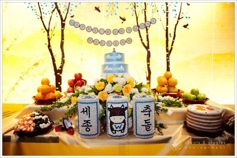 Cheerful 1st dol party dolsang table dol dolsang Pinterest