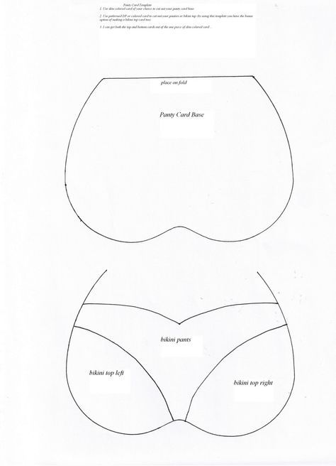 Bra And Panty Card Template Card Making Templates Card Patterns Cards Handmade