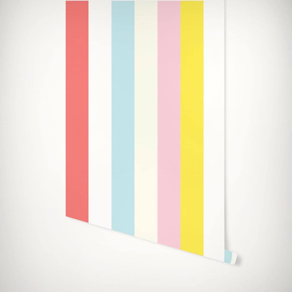 Cottage Stripes Wallpaper Striped Wallpaper Katie Kime Wallpaper Pink Wallpaper