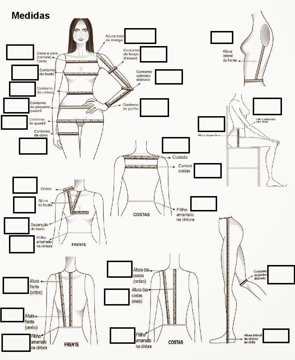 Blog Atelier Fernanda Guimaraes: Tabela para Medidas   TO DO ...