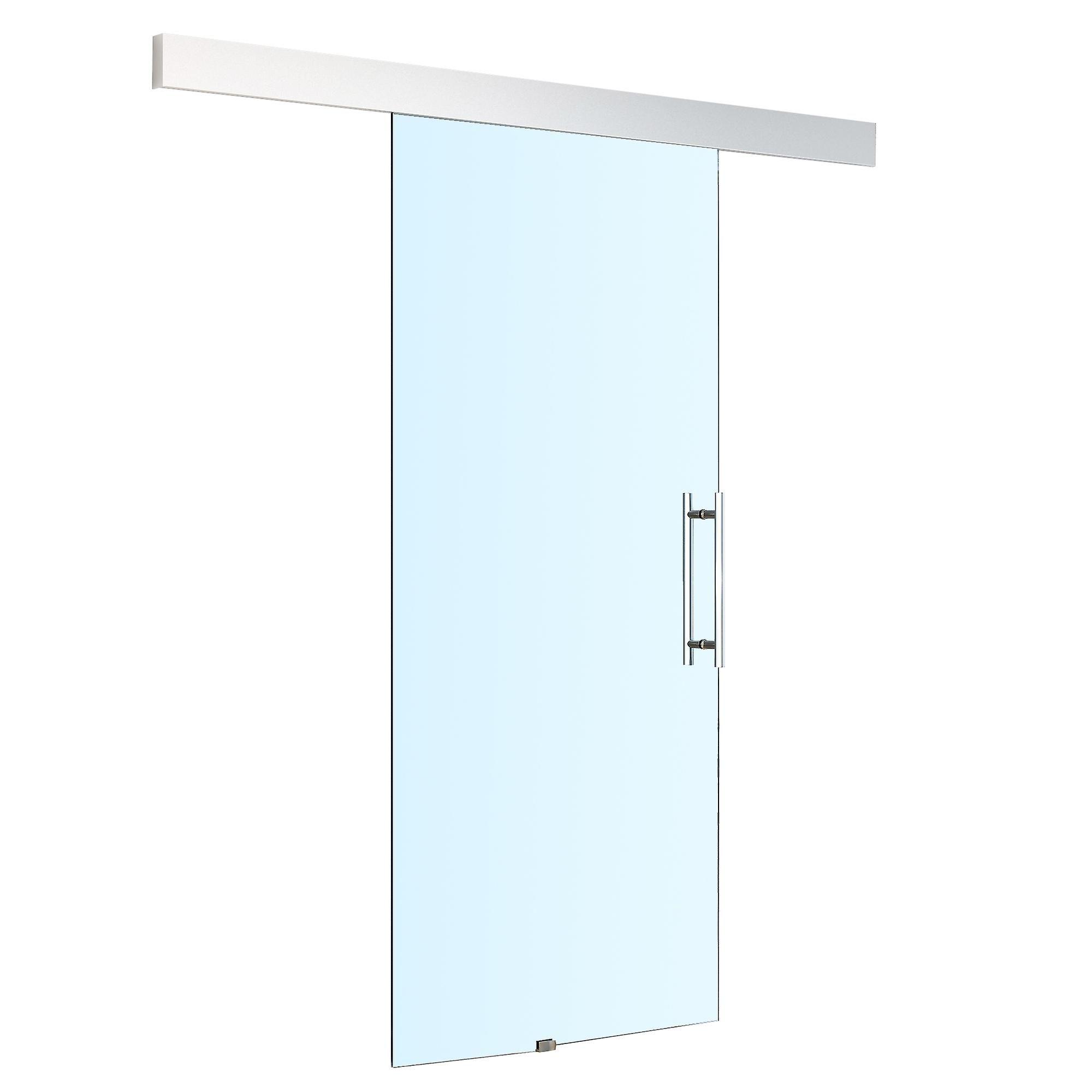 Homcom Sliding Glass Door 8mm Tempered Hardware Track Kit Interior System Handle 750 X 2100mm Fruugo With Images Sliding Glass Door Glass Door