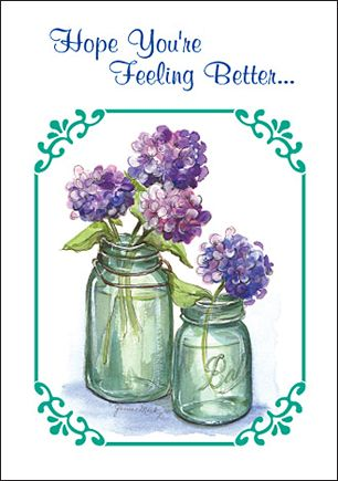 Free Graphics Hope Youre Feeling Better Blue Flowers Free