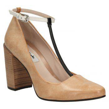 4bc91cf42 Clarks Crumble Berry- Women s Court Shoe in Tan Combi