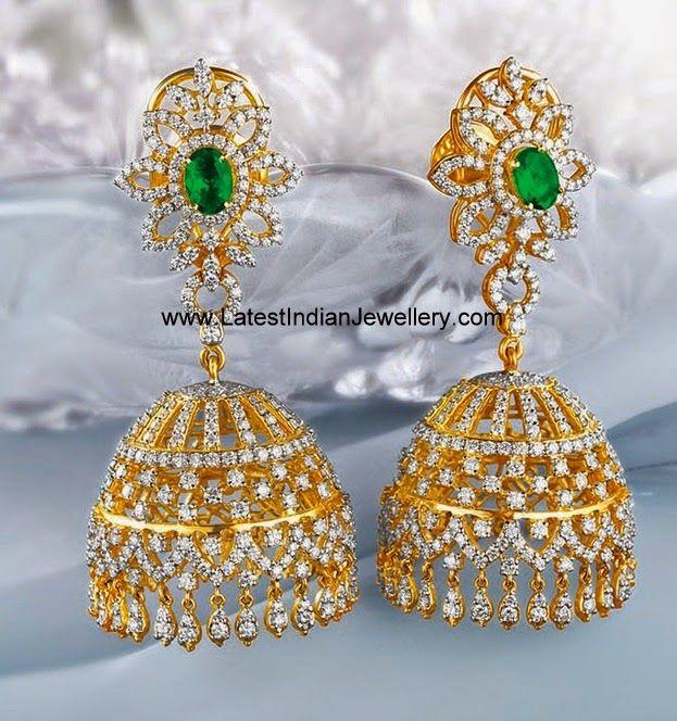 diamond jhumkas indian - photo #21
