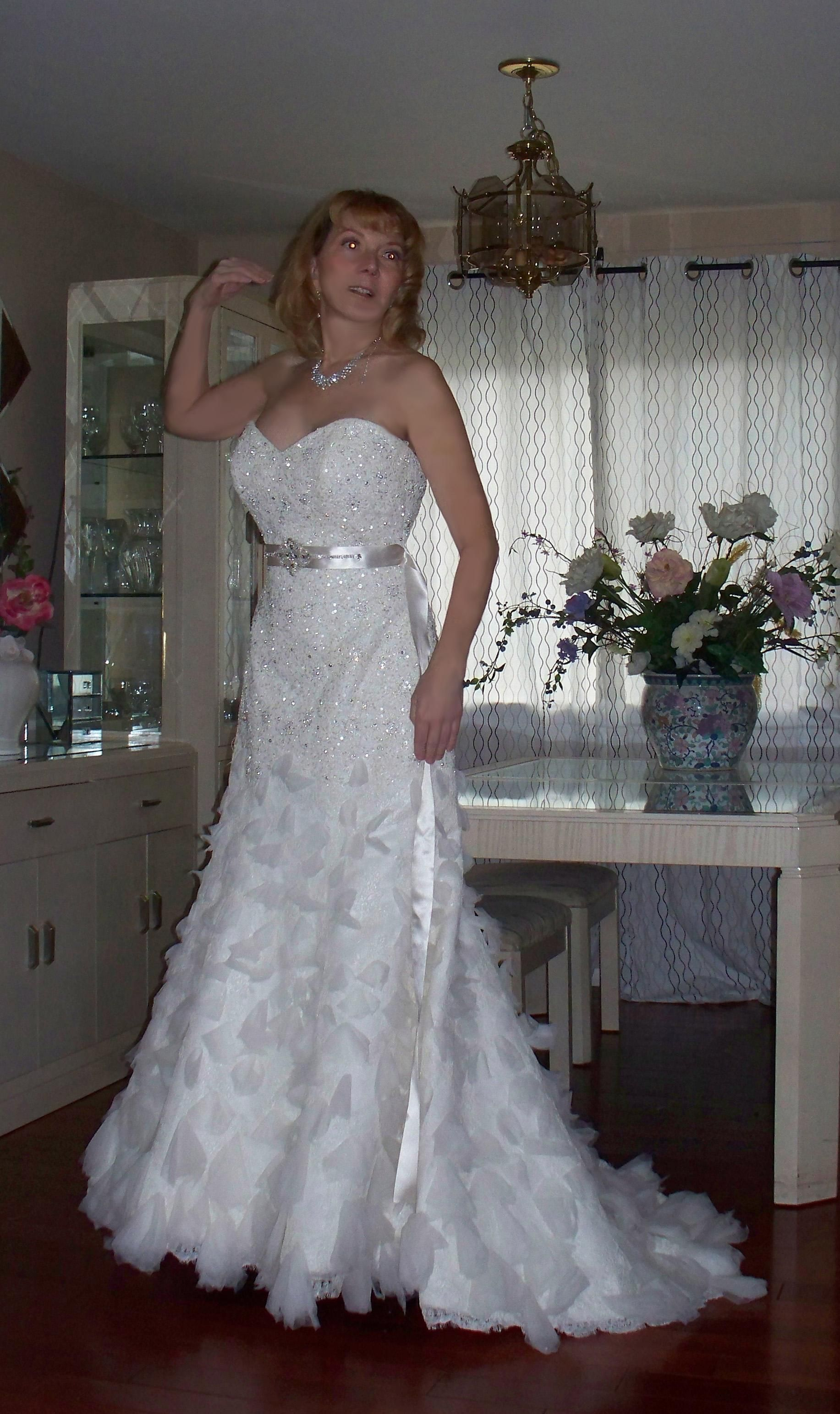 Recycled wedding dresses  Winter Sale Wedding Dress  Mori lee Wedding dress and Mori lee