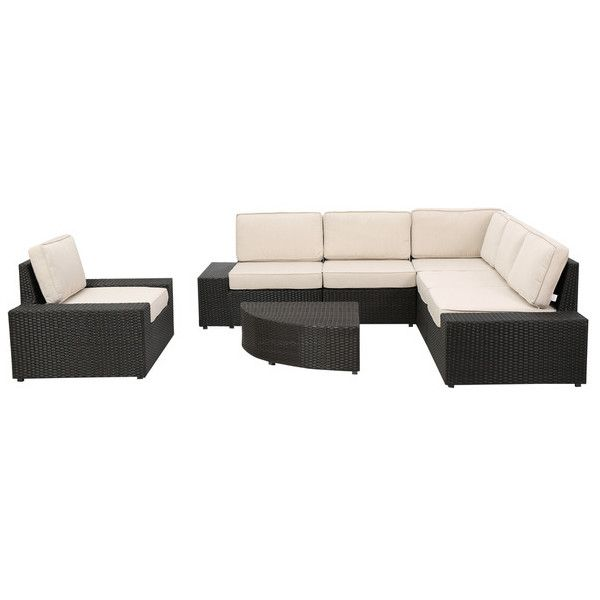 Christopher Knight Home San Vicente Outdoor 7-piece Aluminum Sofa ...