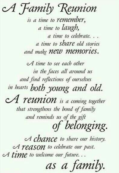 Family Reunion Quotes Stunning A Family Reunion A Chance To Share Our History A Reason To