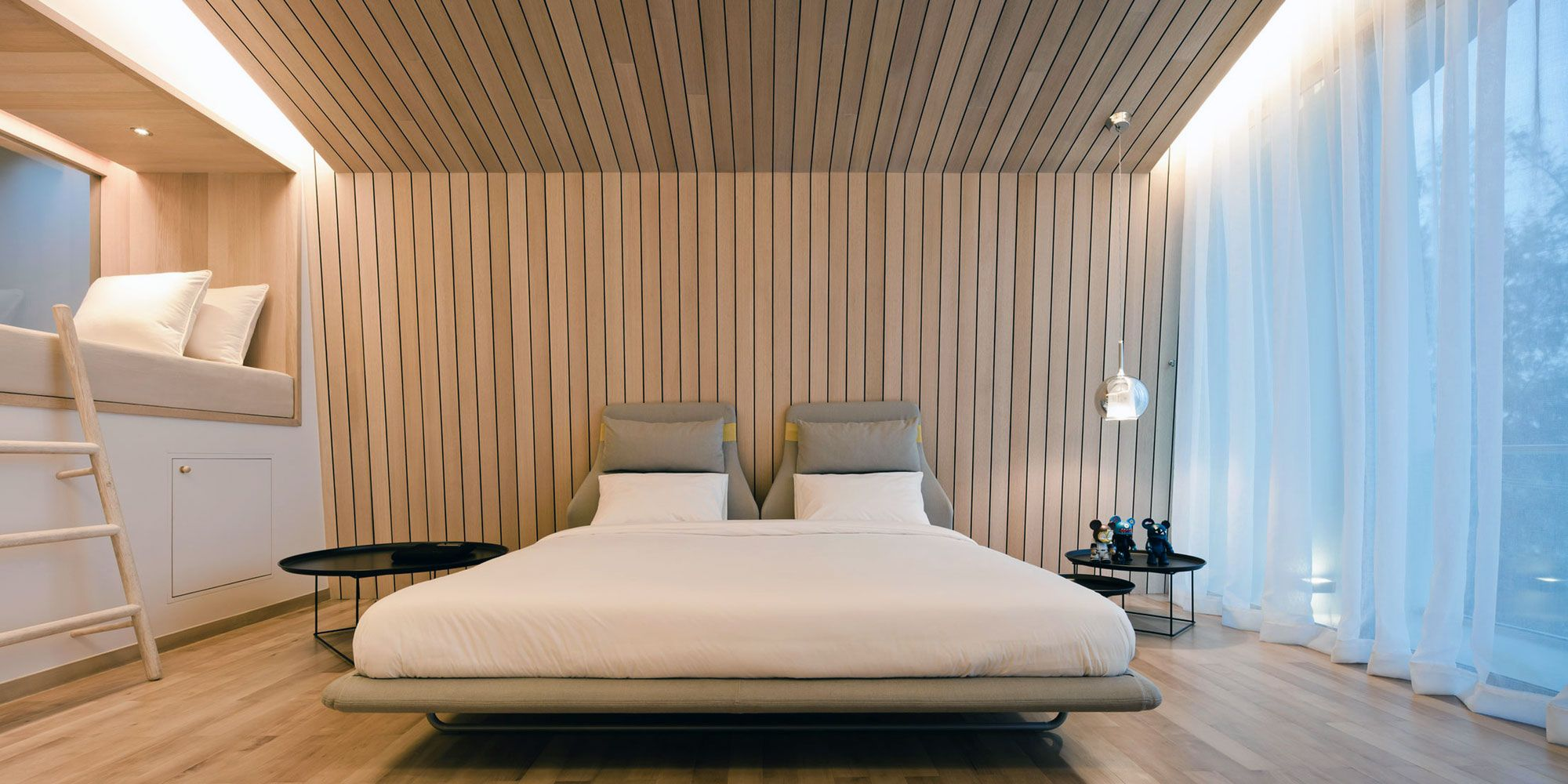 Interior Design Modern Bedroom House Design With Low Profile Bed