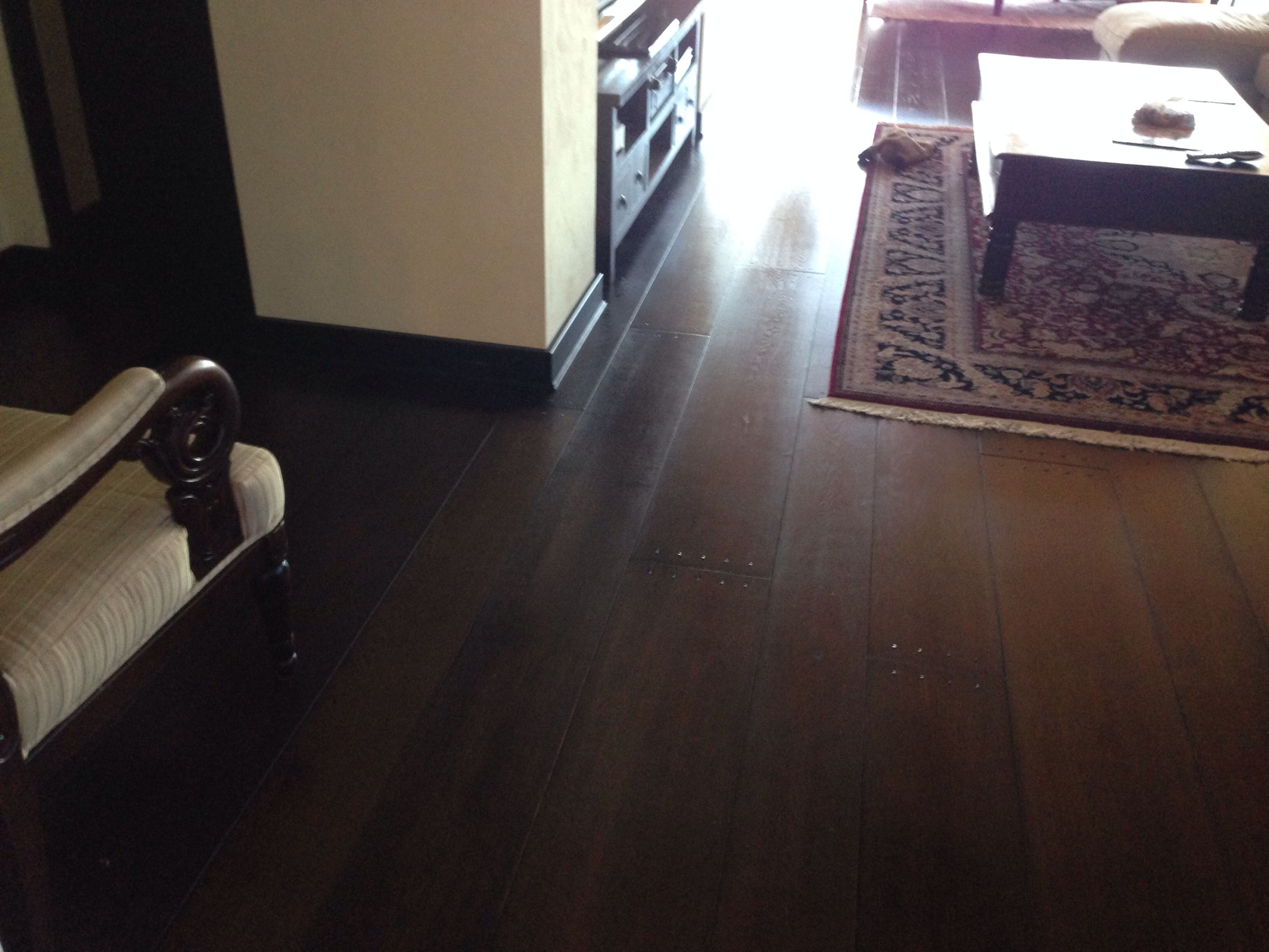 Love the wide uneven floor boards with dark wood and dark for Hardwood floors uneven
