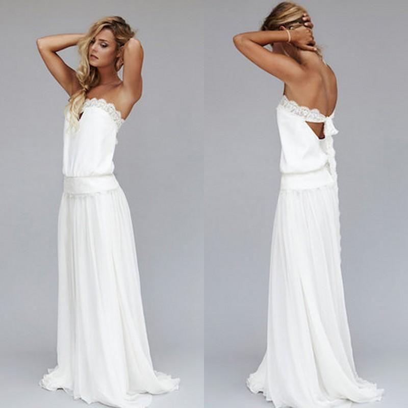 Wedding Dresses Ideas Lace Strapless Long Beach For Guests Choosing The