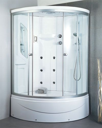 48x48 corner tub shower. LineaAqua Shower Enclosures Sunrise 48 x Corner  Enclosure 6 Body Sprays