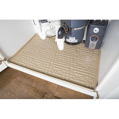 Xtreme Mats Under Sink Kitchen Cabinet Drip Tray Finish Beige Size 27 625 W X 21 875 D