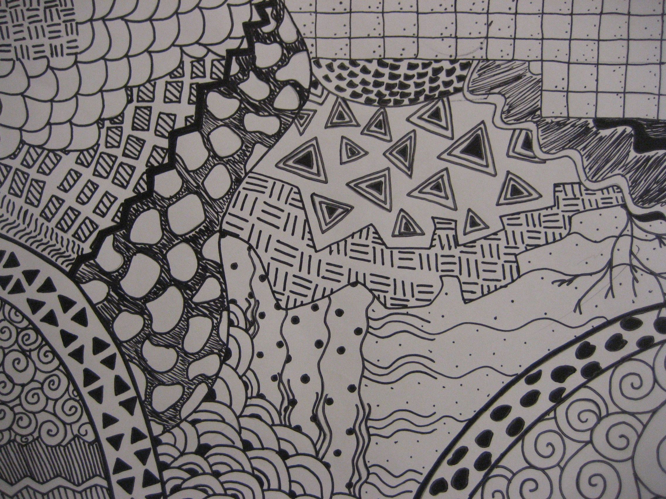 Line Drawing Zentangle : Creative line drawing zentangle my middle school
