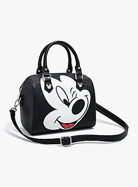 9da7c8ec975 Loungefly Disney Mickey Mouse Debossed Barrel Bag - BoxLunch ...