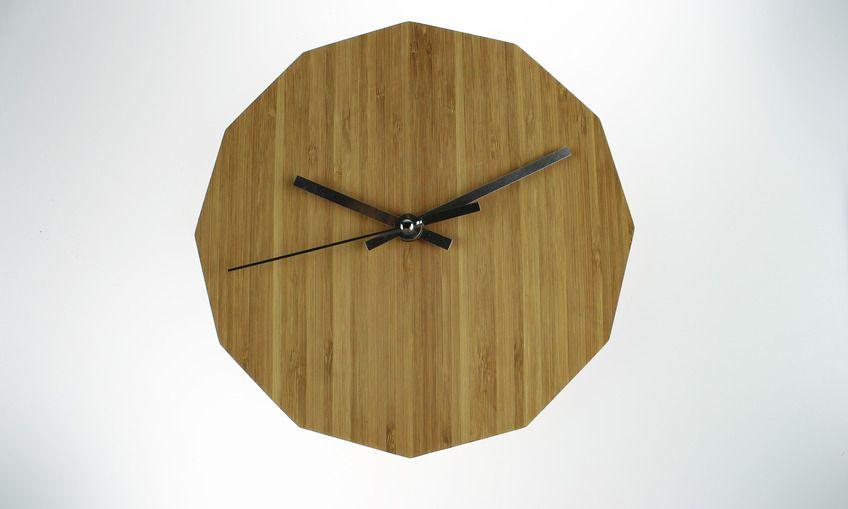 Dodecagon Bamboo Clock Clock Dodecagon Wall Clock