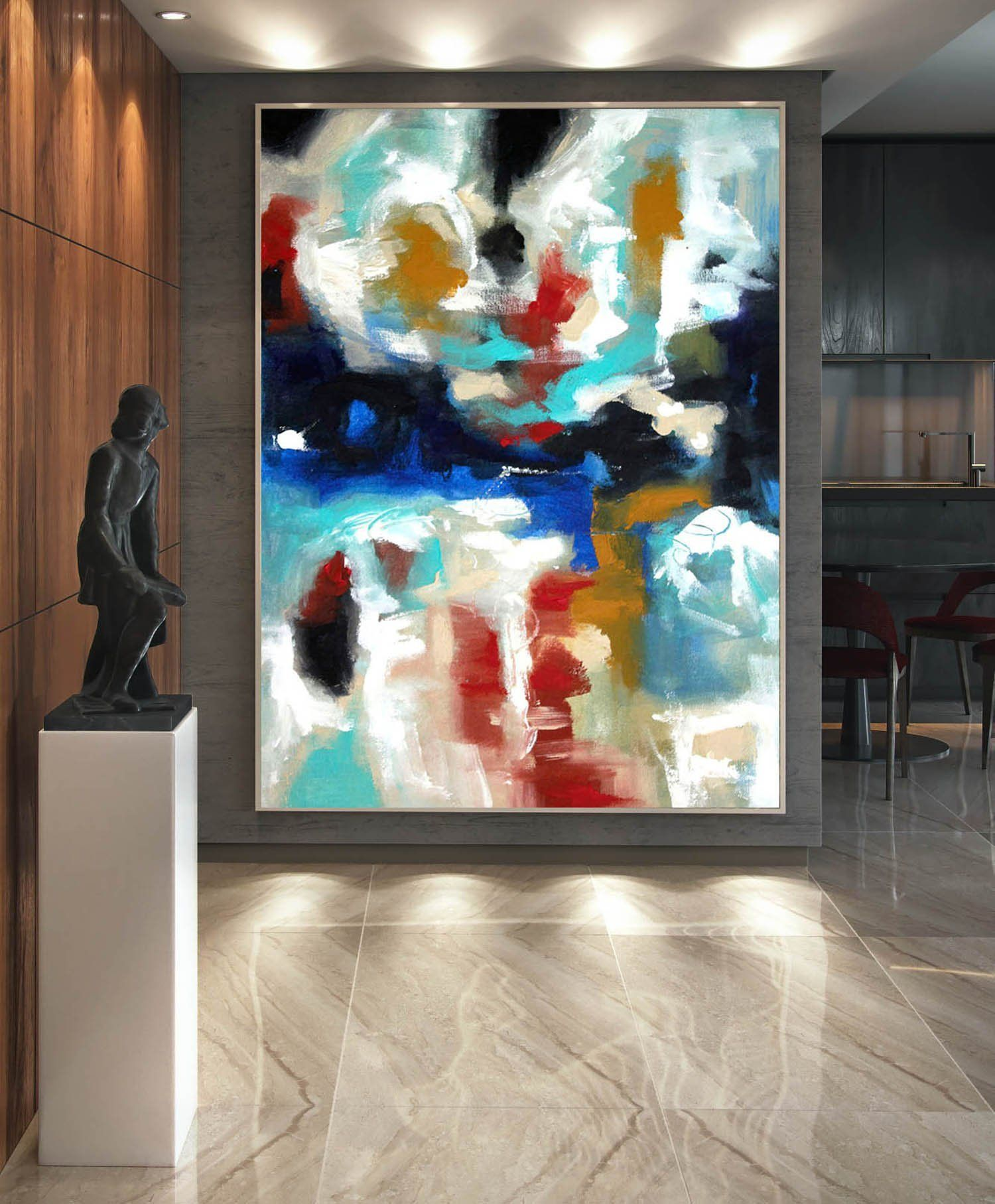 Large Canvas Art Abstract Painting On Canvas Contemporary Wall