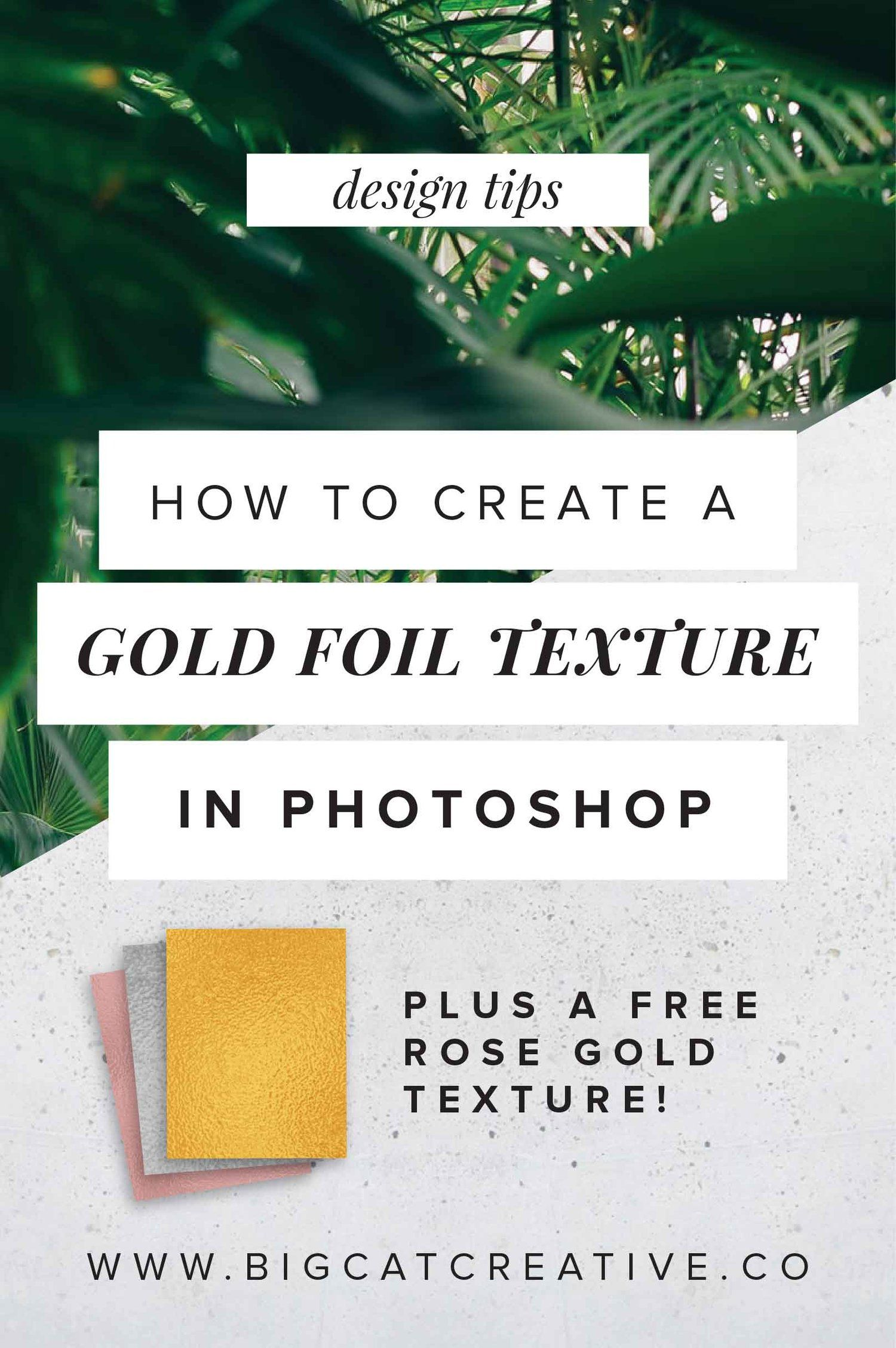 How to create a gold foil texture in photoshop big cat creative how to create a gold foil texture in photoshop big cat creative branding and baditri Images