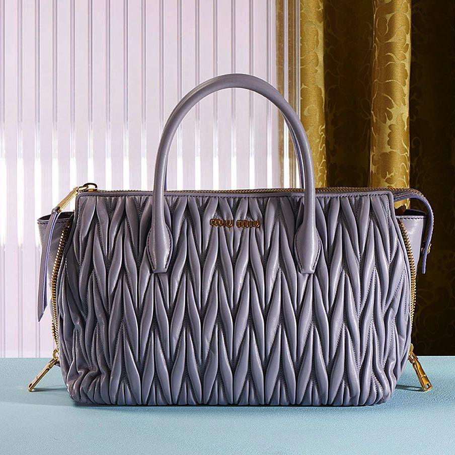 Discover The New Miu Matelassé Handbags Collection On Miumiu