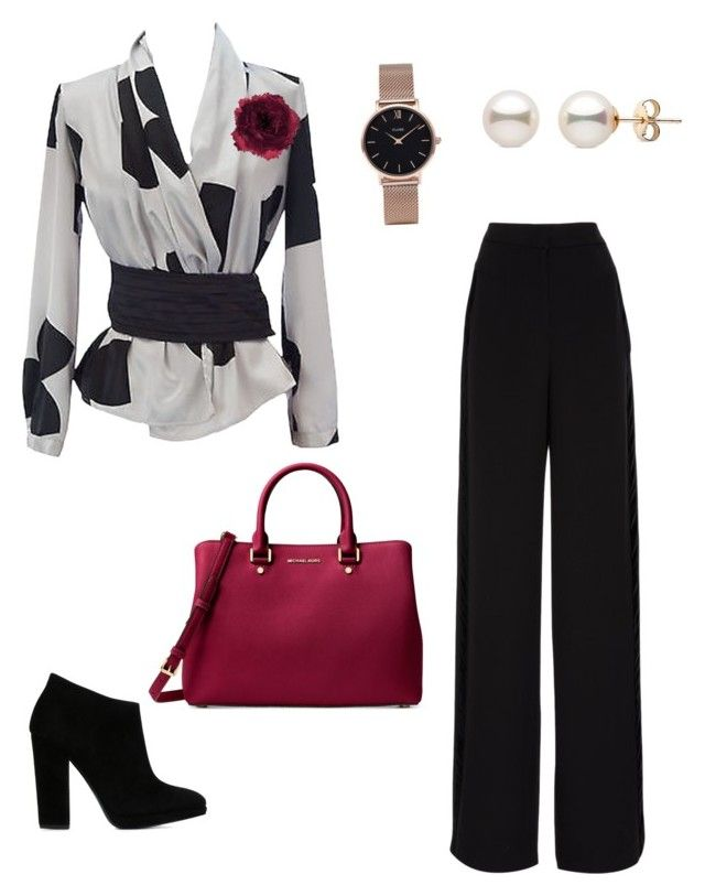 """""""Red rose"""" by jozzel ❤ liked on Polyvore featuring Emporio Armani, Accessorize, Giuseppe Zanotti, Rochas, Michael Kors and CLUSE"""