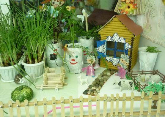 теплица на подоконнике в детском саду