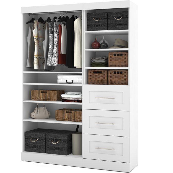 Navarro 60 8 W Closet System Reviews Joss Main Closet System Closet Organizing Systems Wood Closet Organizers