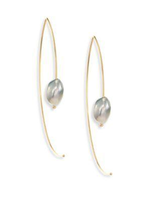 Large open marquis keshi earrings Mizuki yFfXG