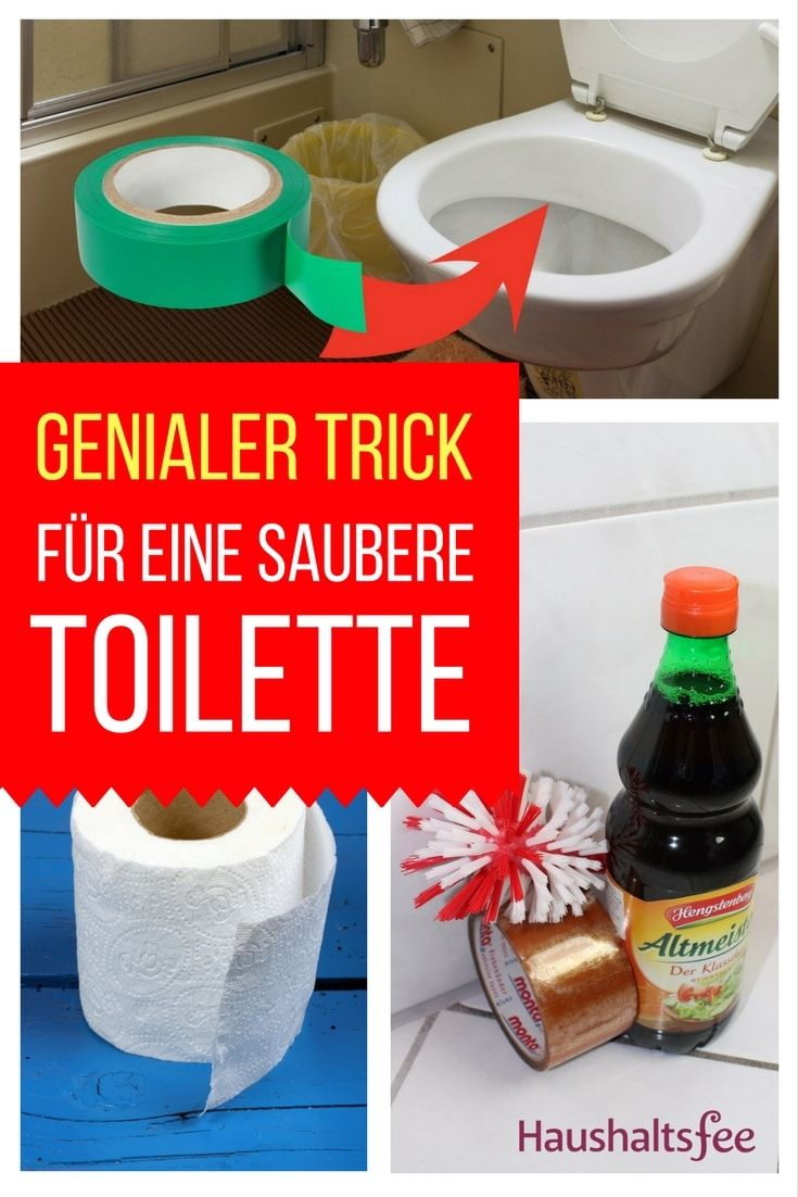 trick so bleibt die toilette l nger sauber kendin yap pinterest. Black Bedroom Furniture Sets. Home Design Ideas