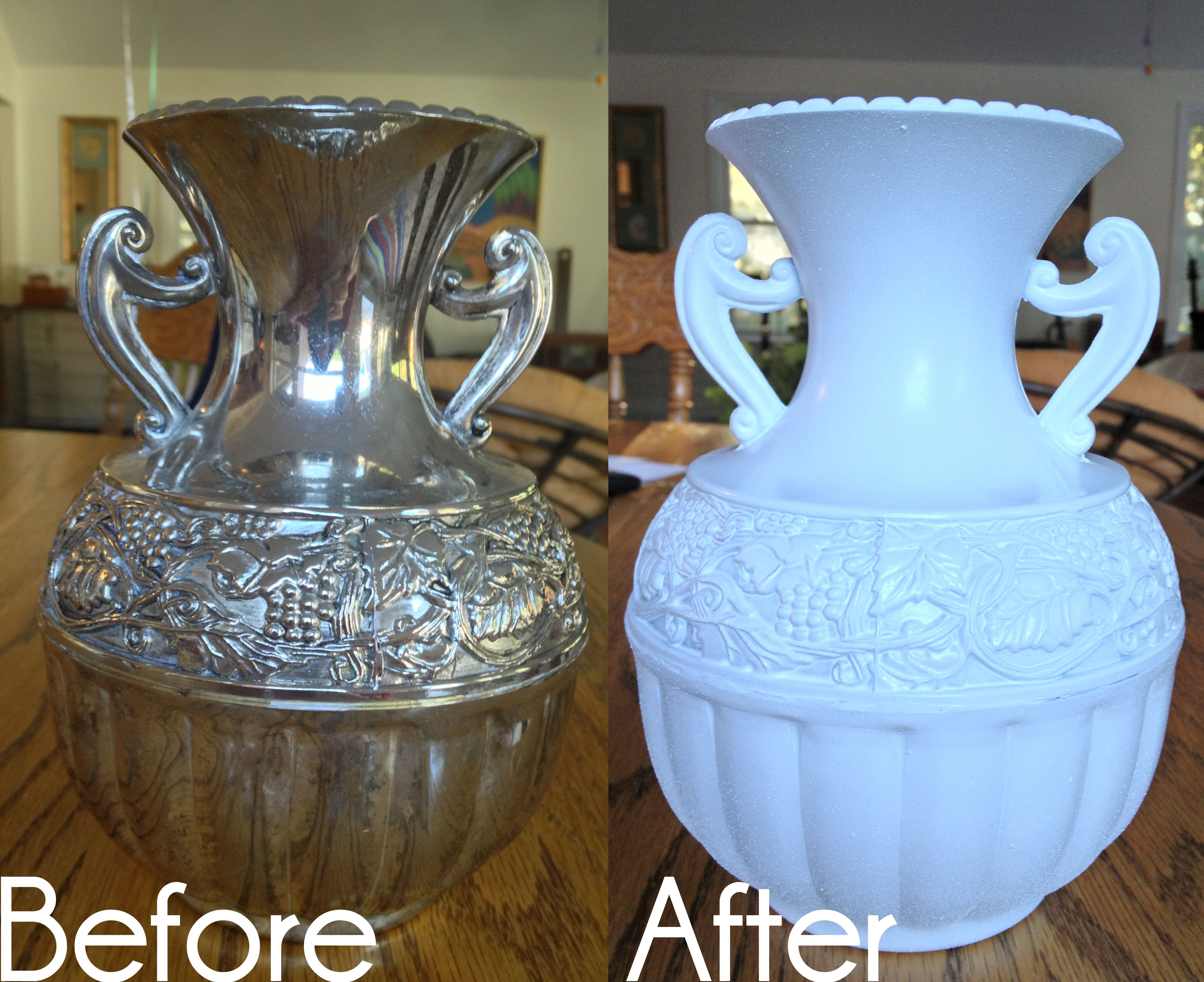 Spray Paint Makeover for silver plated items   Projects to