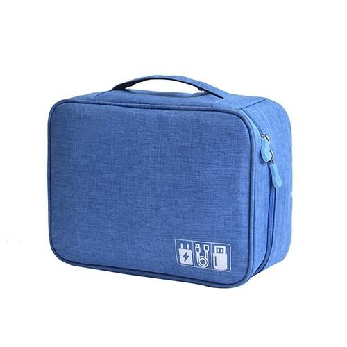 Digital Cable Power Cord Charger Headset Organizer - A Blue