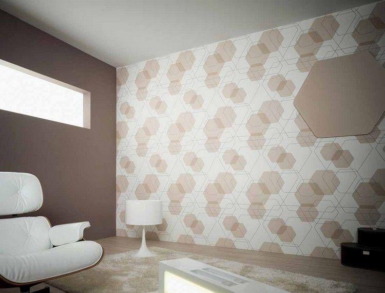 80 Wohnzimmer Tapeten Ideen \u2013 Coole, moderne Muster Living room