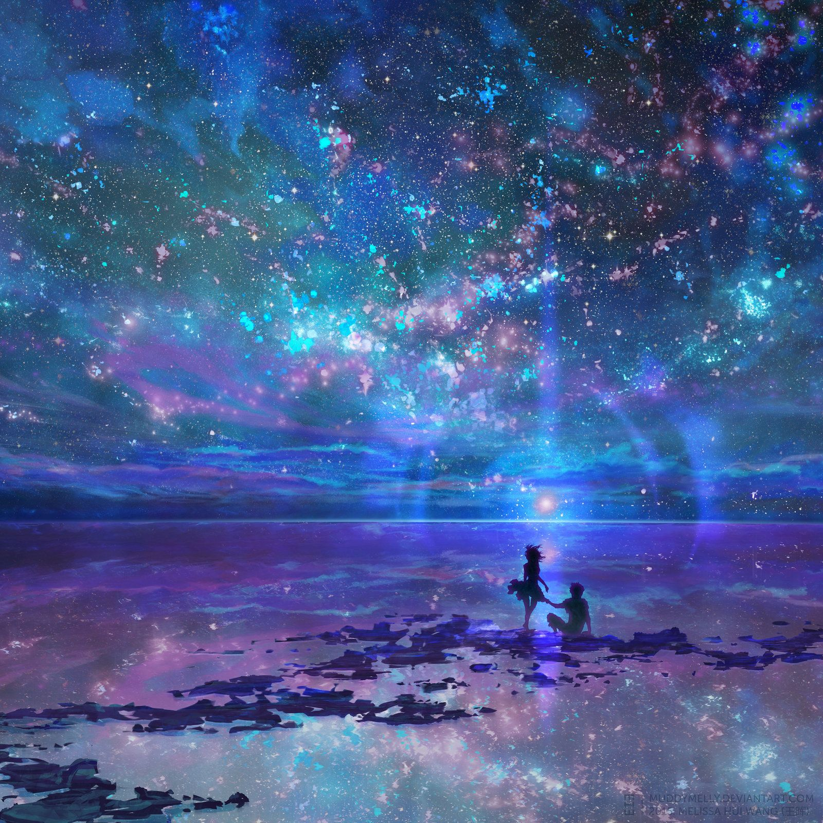 Anime Night Sky: Pin By Brooke On BLUE COLOr