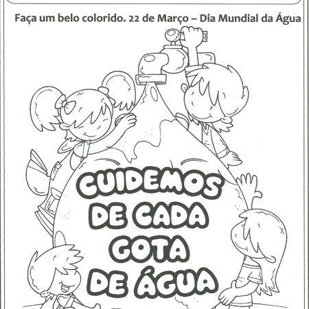 Dia Da Agua Para Colorir Dia Da Agua Atividades Sobre A Agua E