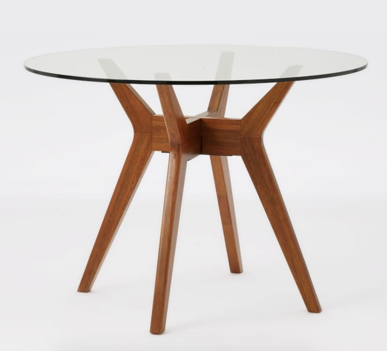 Jensen Round Dining Table In 2020 Glass Round Dining Table