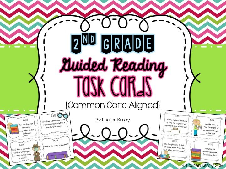 Guided Reading Common Core Task Cards Guided Reading