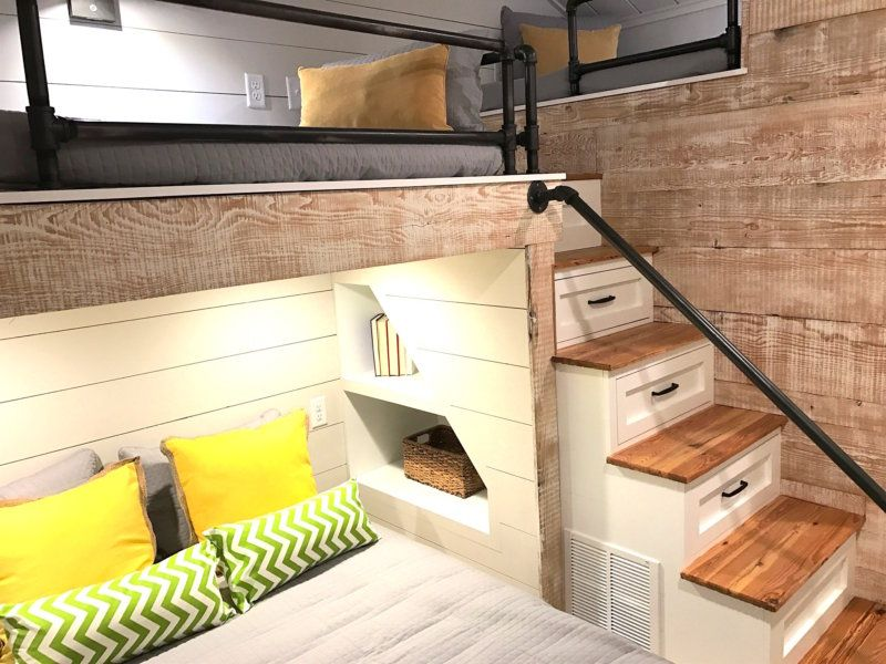 When Space Is Tight Built In Bunks With Plenty Of Storage Are A