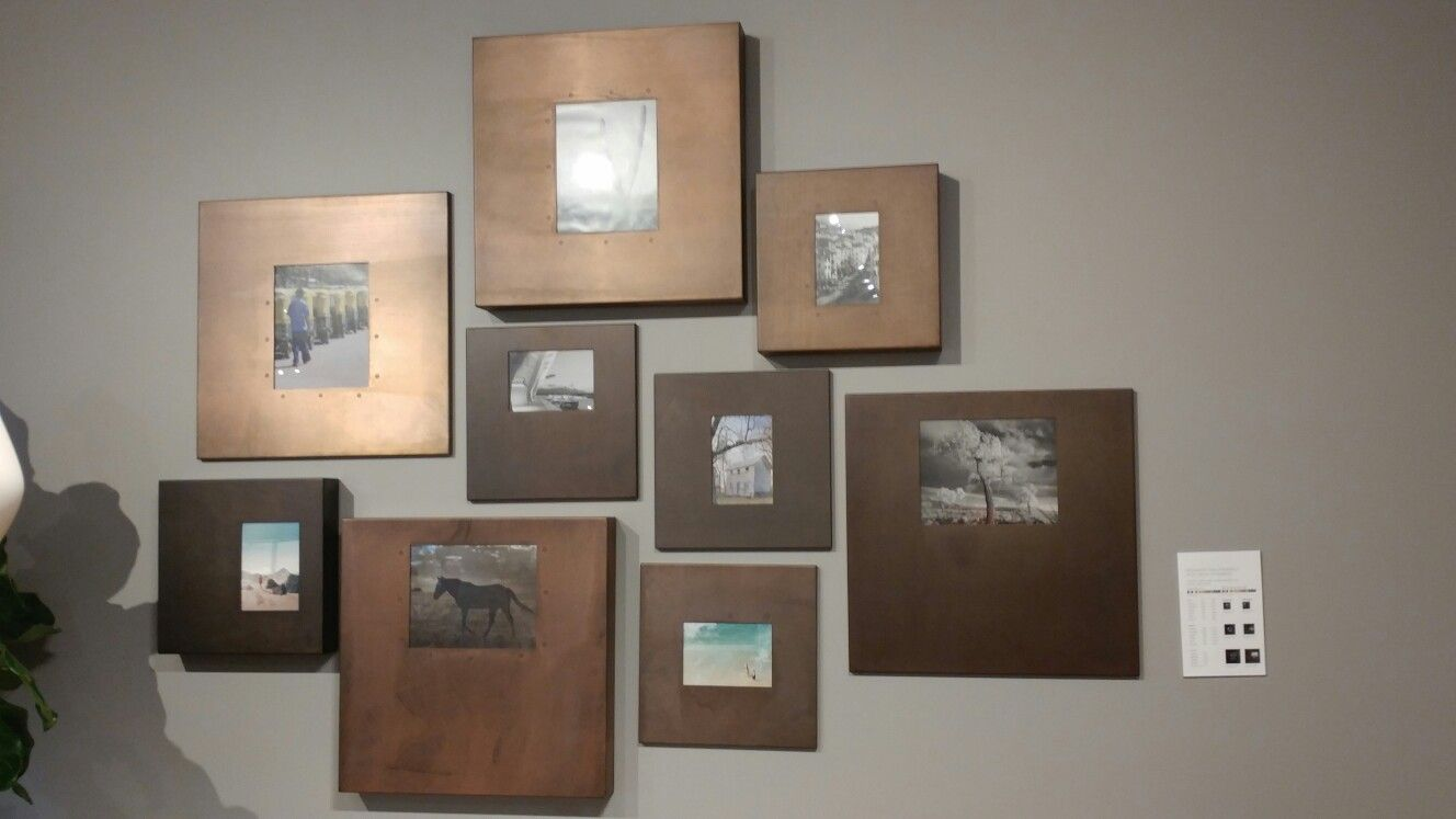 Copper frame collage from Room and Board