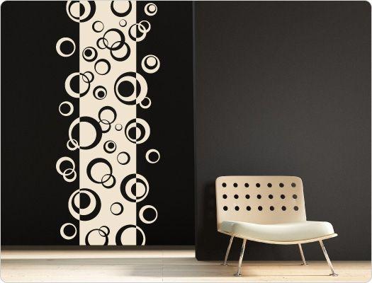 Wandtattoo Retro Dots Banner Wandbanner für große Effekte - wandtattoo wohnzimmer retro