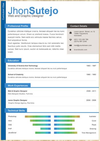 22 Free Creative Resume Template Modelos de curriculum