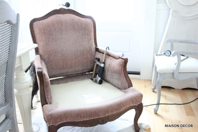 How To Reupholster The Easy Way: My French Chair
