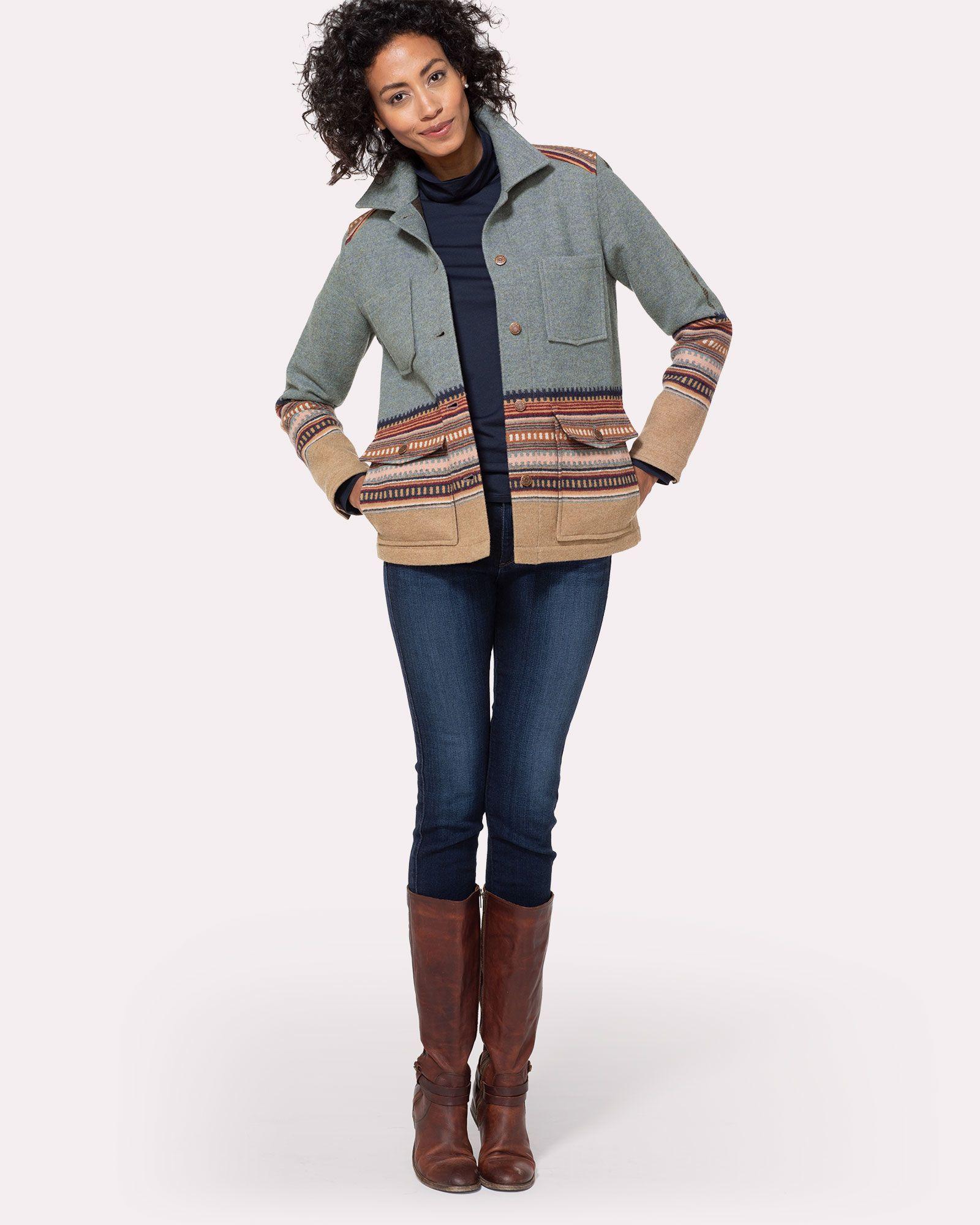 Western Horizons Coat Pendleton Winter Coats Women Wool Wool Coat Women Wool Clothing [ 2000 x 1600 Pixel ]