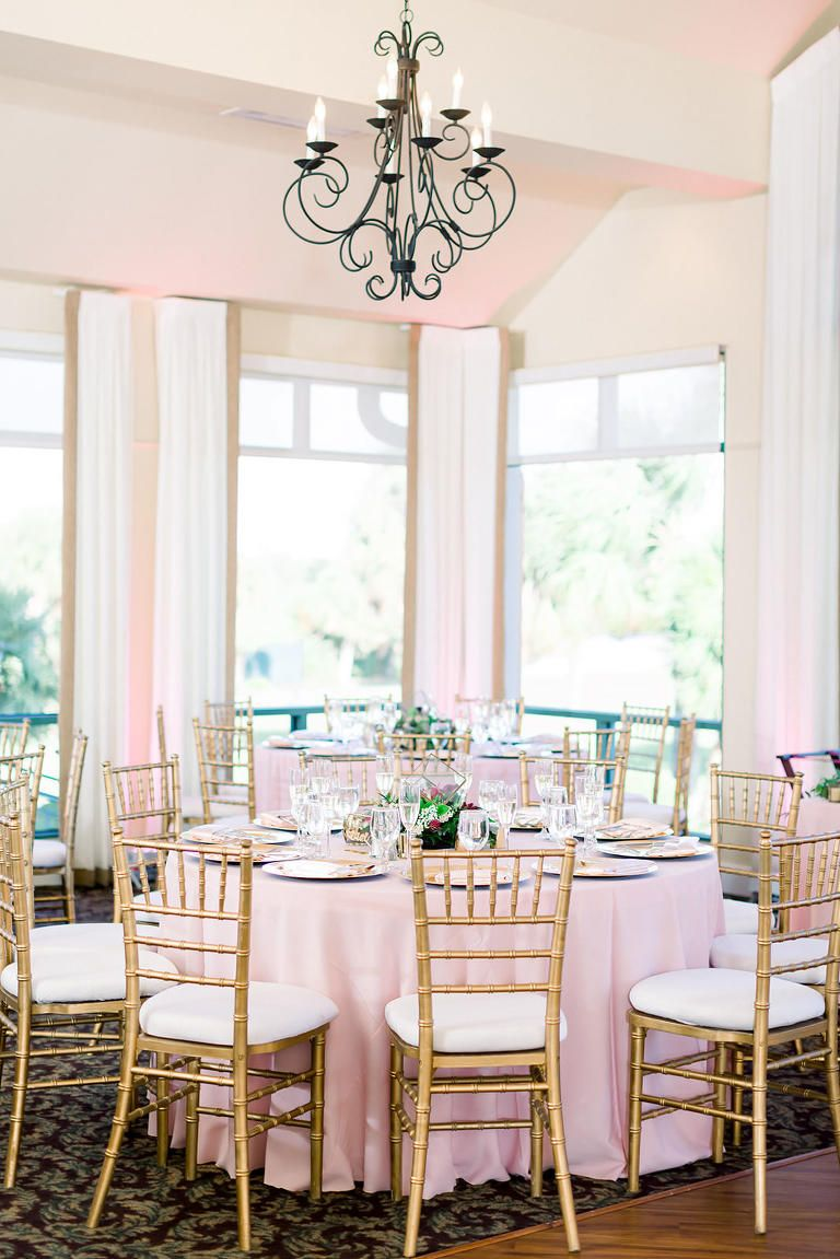 Rustic Maroon and Gold Tampa Bay Golf Course Wedding ...