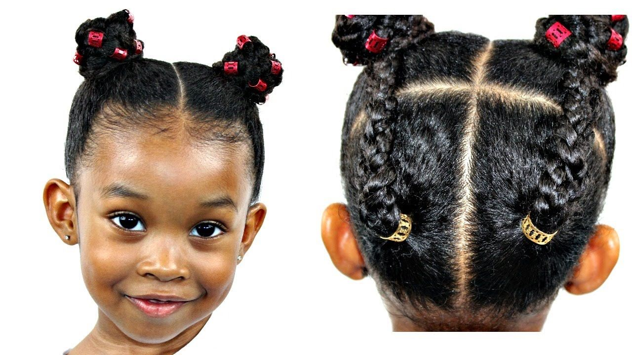 hair tutorial for little girls | natural hairstyles | maya