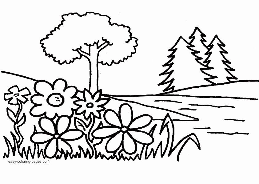 Garden Of Eden Coloring Page Awesome Tiny Hearts Blog Lesson 10 Intro To Garden Of Eden And In 2020 Easy Coloring Pages Tree Coloring Page Coloring Pages