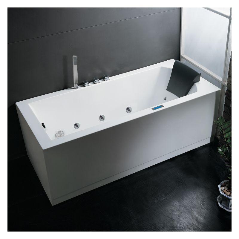Ariel Platinum 6ft Am154jdtsz 70 Rectangular Alcove White Acrylic