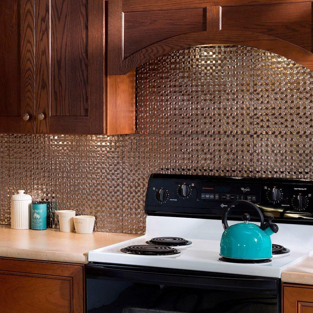 Decorative Tile Backsplash Ideas Fasade 18 Inx 24 Interrain Pvc Decorative Tile Backsplash In