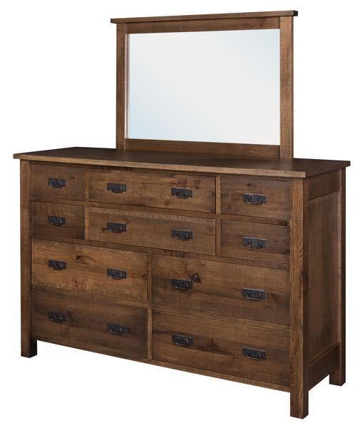 Best Amish Toledo 10 Drawer Dresser With Optional Mirror 400 x 300